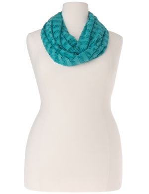 Mesh & jersey infinity scarf