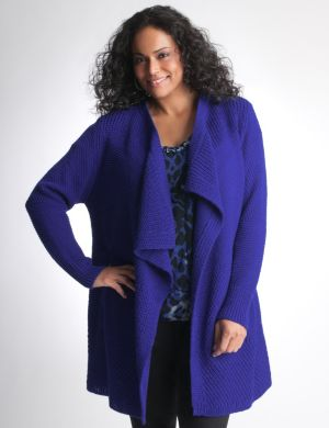 Mixed stitch sweater coat by DKNY JEANS