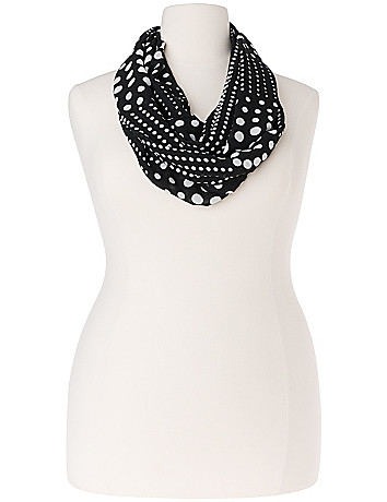 Graduated dot eternity scarf by Lane Bryant