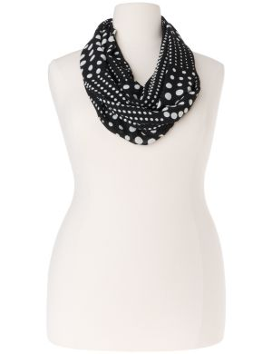 Graduated dot eternity scarf