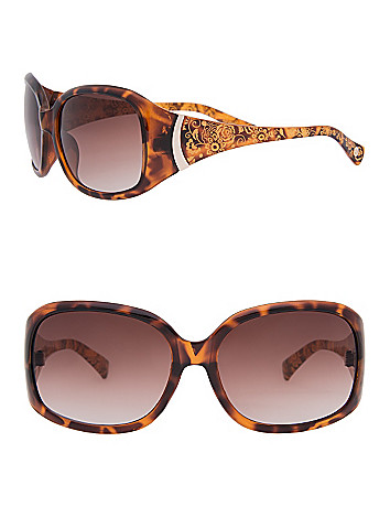 Etched Floral Sunglasses by Lane Bryant