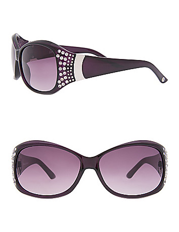 Rhinestone Purple Sunglasses by Lane Bryant