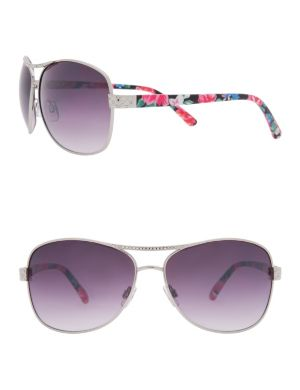 Quilted aviator sunglasses