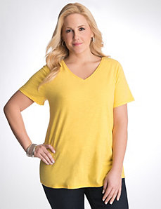 Full Figure V neck tee