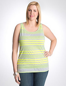Multi stripe ribbed tank