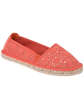 Wide Width Espadrille Flats by Lane Bryant