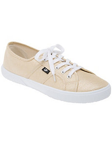 LB Kicks metallic canvas sneaker by Lane Bryant