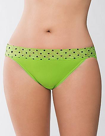 Sassy lace waist cotton string bikini