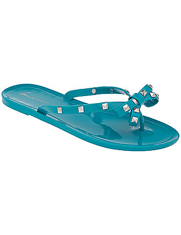 Wide Width Jelly Flip Flop by Lane Bryant