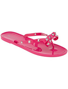 Studded jelly flip flop by Lane Bryant