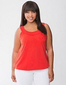 Eyelet Embroidered Tank