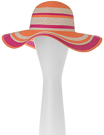 Striped Floppy Hat by Lane Bryant