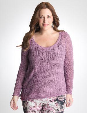 Asymmetric mesh sweater by DKNY JEANS