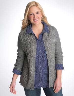 Cable knit cardigan by DKNY JEANS