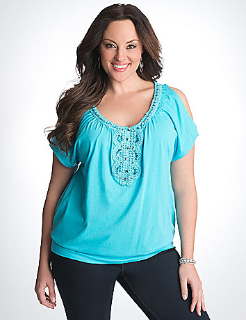 Full Figure Crochet Top by Lane Bryant