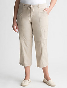Knit waist cargo capri by LANE BRYANT