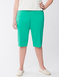 Twill pedal pushers with Tighter Tummy Technology by LANE BRYANT
