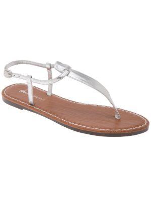 Snakeskin T-strap sandal