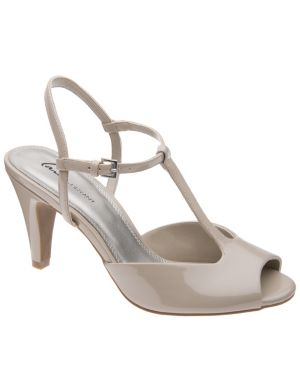 Patent T-strap heel