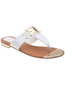 Patent cap toe sandal by Lane Bryant