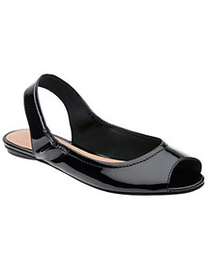 Patent peep toe flat by Lane Bryant