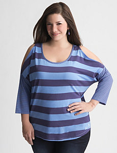 Mixed stripe top by Seven7