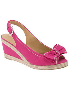 Canvas slingback wedge by Lane Bryant