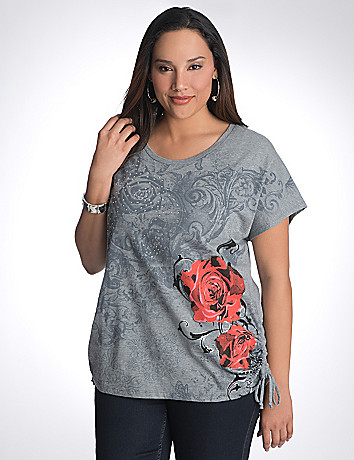 Plus Size Rose Tee by Lane Bryant