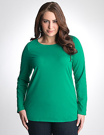 Long sleeve crew tee by Lane Bryant
