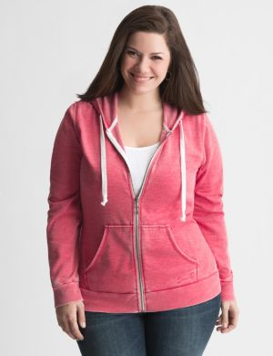 Washed fleece hoodie by Seven7