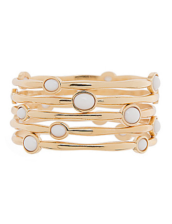 5 row polished stone bangle set by Lane Bryant