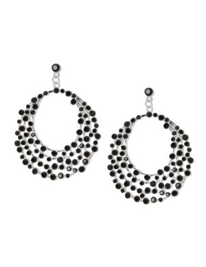 Polished stone button drop earrings by Lane Bryant