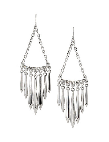 Spike chandelier earrings by Lane Bryant