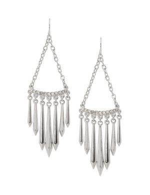 Spike chandelier earrings by Lane Bryant