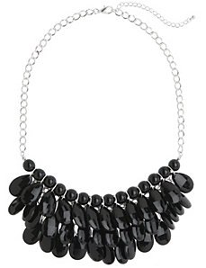 Faceted bib necklace by Lane Bryant
