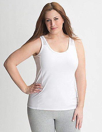 Full Figure Mesh Back Tank by Lane Bryant