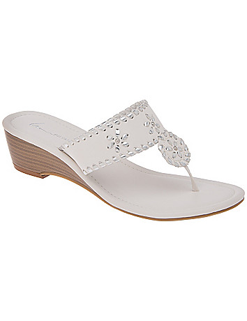 Wide Width Embellished Slide Wedge by Lane Bryant