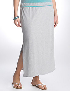 Side slit maxi skirt by LANE BRYANT