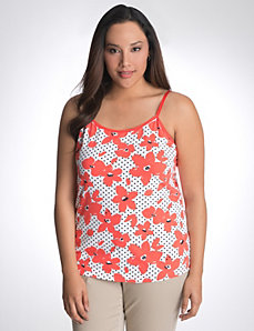 Floral dot cami by Lane Bryant