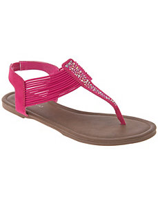 Strappy embellished sandal by LANE BRYANT