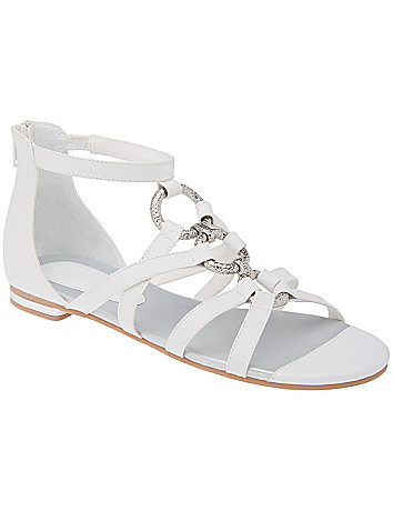 Wide Width Ring Gladiator Sandal by Lane Bryant