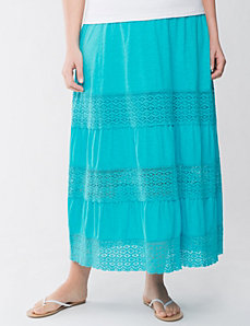Crochet long skirt by LANE BRYANT