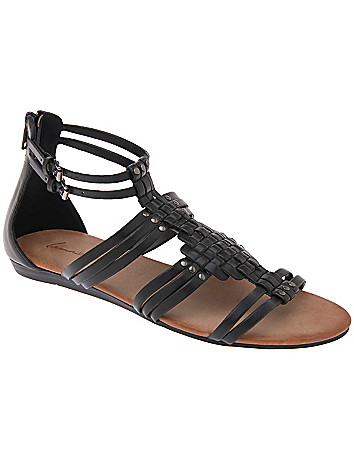 Wide Width Woven Gladiator Sandal
