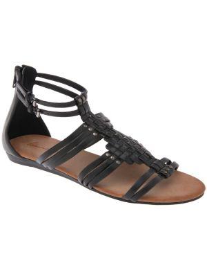 Woven gladiator sandal