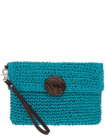 Crochet wristlet clutch by Lane Bryant