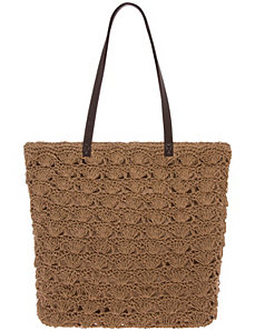 Crochet tote bag by Lane Bryant