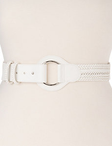 Braided stretch belt by Lane Bryant
