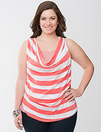 Striped layered tank by Seven7