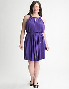 Pleated A-line dress by Lane Bryant