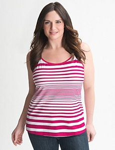 Striped stretch cami